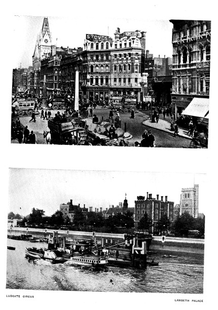 Ludgate Circus and Lambeth Palace
