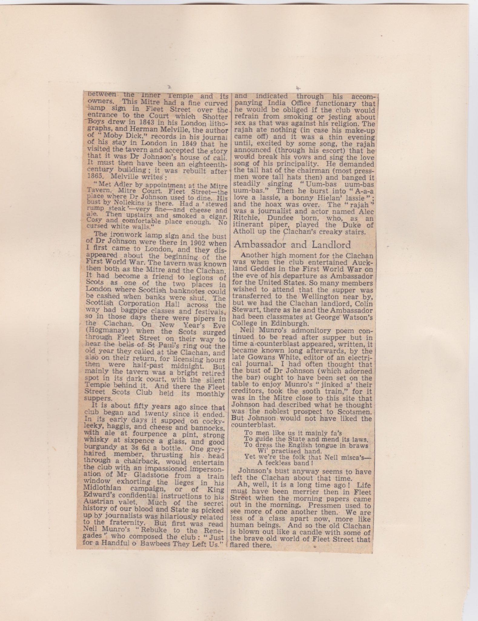 Continuation of article on the Clachan pub