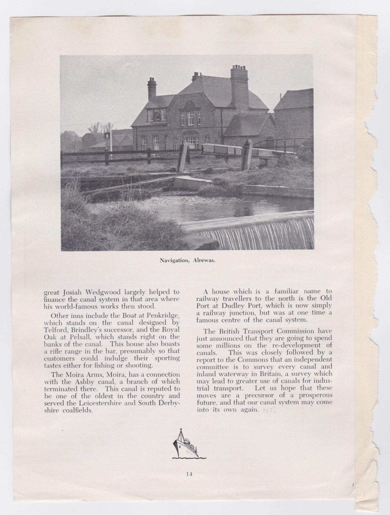 third part of article on canal inns